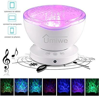 KOBWA Ocean Projector Night Light, 12 LED 7 Modos de luz de ...