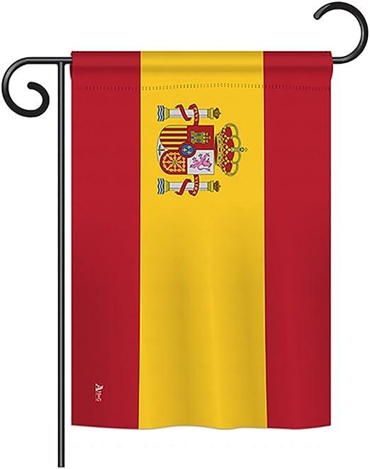 Americana G142219 - Bandera de España con el Texto The World Nationality Impressions, diseño de Bandera de jardín Vertical de 33 x 47 cm, Estampado en Estados Unidos: Amazon.es: Jardín