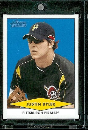 2007 Bowman Heritage Prospects # BHP43 Justin Byler (XRC - RC - Extended Rookie Prospect Card) Pittsburgh Pirates - Rookie Baseball Card 2007 Bowman Heritage Card