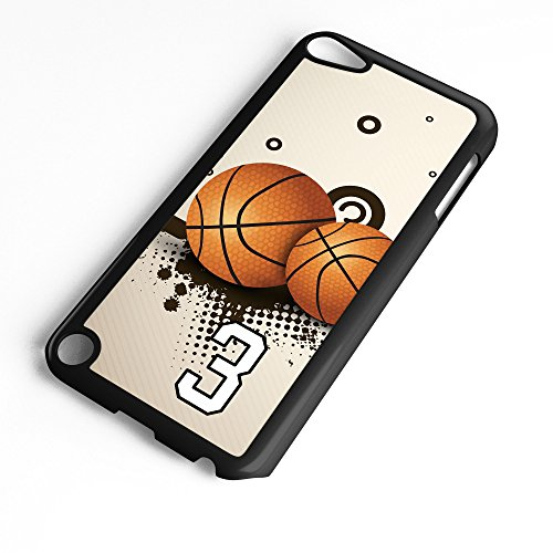 iPod Touch Case Fits 6th Generation or 5th Generation Basketball #2500 Choose Any Player Jersey Number 3 in Black Plastic Customizable by TYD Designs