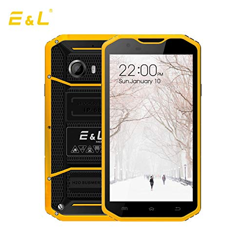 Camera Bluetooth Gsm Pda - EL W8 4G LTE Rugged Smartphone Unlocked IP68 Wateproof Dustproof Shockproof 5.5 Inch 16GB/2GB Android 6.0 Camera 8.0MP Unlocked Military Grade GSM Cellphone (Yellow)