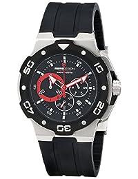 Momo Design Men's Tempest MD1004BK-01BKRD-RB Analog Display Swiss Quartz Black Watch