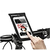 Bike Handlebar Bag, Bicycle Top Tube Pouch, MOOZO Bike Cycling Frame Bags Phone Mount Holder Cover Case for iPhone 8 7 6 6S Plus Samsung Galaxy S8 S7 S6 Edge Plus LG HTC Sony Smartphones Below 6 inch