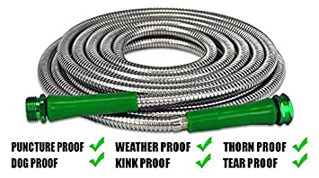 The Best Garden Hose AS SEEN ON TV Heavy Duty Stainless Steel, Tangle