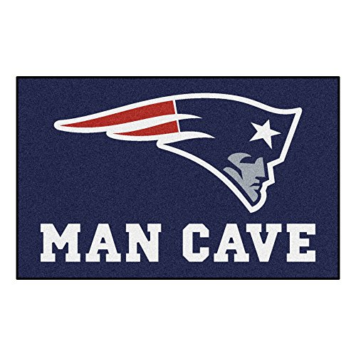 New England Patriots Football Rug - FANMATS 14334 NFL New England Patriots Nylon Universal Man Cave UltiMat Rug