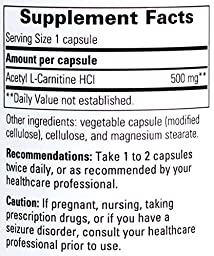Integrative Therapeutics - Acetyl L-Carnitine - Support for Concentration, Memory, and Mental Sharpness - 60 Capsules