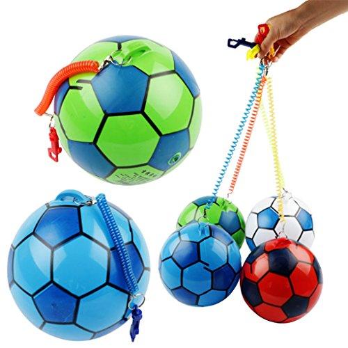 JAGENIEストリングスポーツの子供たちの新しいインフレータブルサッカー子供のおもちゃボールジャグリングボール屋外クリスマスお正月ギフト、1 PC、ランダム配信