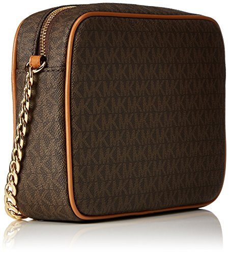 Michael Kors Women's Jet Set Large Crossbody Bag, Brown, OS