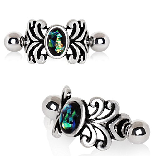 Spiral Cuff - Little Aiden Tribal Medieval Spiral Design Vine Cartilage Cuff Earring 316L Stainless Steel Size 16GA 1/2