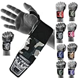 EMRAH HEAVY DUTY Wrist Wraps (PAIR) ''LIMITED DEAL''- Wrist Support Braces for Men & Women - Weight Lifting, Crossfit, Powerlifting, Strength Training (Camo Grey)