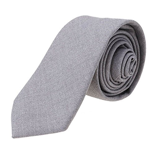 Huayang Slim Plaid Necktie Silver Casual Stripe Tie Cotton Plaid Gray slver New Narrow Neck Party Skinny Men Tie wrXqaxXt
