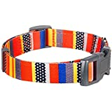 Blueberry-Pet-Adjustable-Designer-Dog-Collar-with-Nautical-Flags-Flame-Stitch-Gold-Cross-or-Rainbow-Pattern-Matching-Leash-Available-Separately