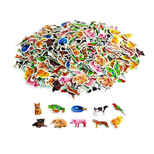 Colorations Real Photo Animal 3mm Foam Stickers Birds, Cats, Chicks, Cows, Dogs, Fish, Frogs, Pigs, Rabbits, Tigers, from 1-1/2