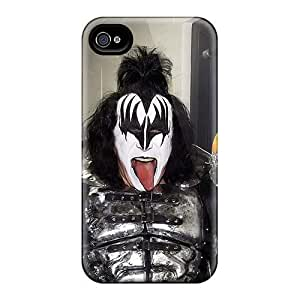 Scratch Protection Hard Cell-phone Case For Iphone 4/4s (MPn2959nMIQ) Customized Vivid Kiss Band Series
