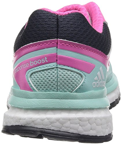 Adidas Response Boost TechFit Mesh Ortholite Scarpe corsa verde rosa