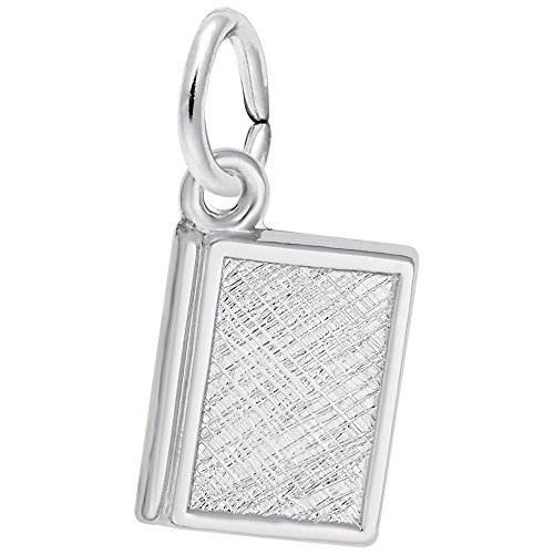 Book Charm In 14k White Gold, Charms for Bracelets and Necklaces (14k Charm Gold Bracelet White)