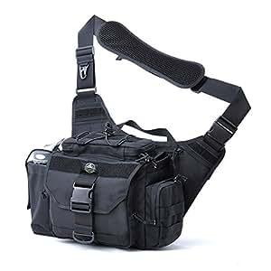 SHANGRI-LA Multi-functional Tactical Messenger Bag - Black