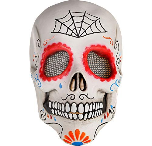 Sugar Skull Mask Halloween - AMSCAN Day of the Dead Sugar