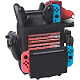 Charging Dock for 4 Joy-Cons, 2 Pro Controllers and 2 Poke Ball Plus Controllers, Compatible with Nintendo Switch Multifuncti