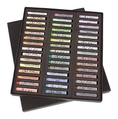 Jack Richeson 4290451 Richeson Signature Pastels Set of 45 Landscape Round Full Stick Pastels