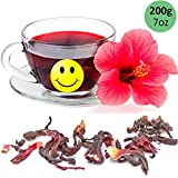 Tealyra - Pure Hibiscus Herbal Tea - Loose Leaf Tea - Organically Grown - Lower Blood Pressure & Help Weight Loss - Vitamins Rich Tea - Healthy Tea - Caffeine Free (7oz / 200g)