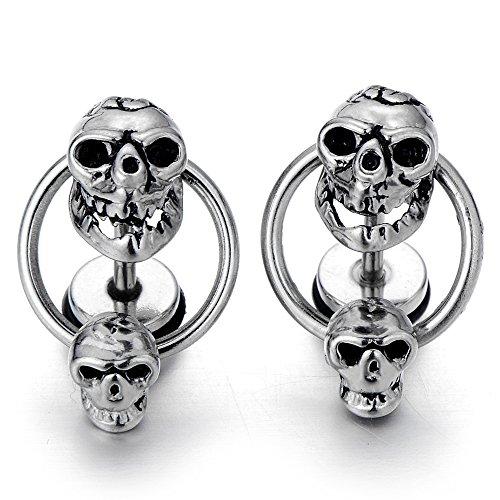 Women Double Dangle Earrings Stainless