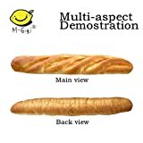 M-Gigi Kawaii Squishy Cream Scented Slow Rising French Baguettes Keyboard Hand Pillow Scent Loaf Bread Toy(French bread), 1Pcs