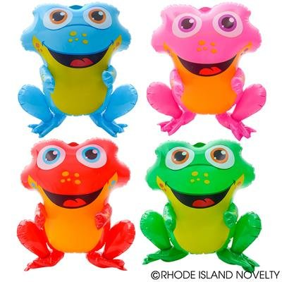 "4PC Colorful 20"" Rainforest Frogs FOUR different colors in a set"
