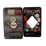 Blue Stones Casino chips Texas Poker chips 100 chips game tokens plastic poker chips