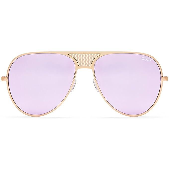 5fe022332b Quay Australia X Kylie Jenner ICONIC Sunglasses in Gold Purple + POM POM   Amazon.ca  Clothing   Accessories