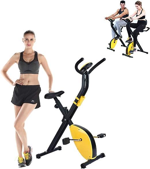 YUSDP Bicicleta estática Vertical de Resistencia magnética - con ...