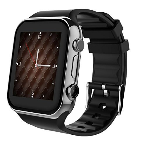 Scinex SW20 16GB Bluetooth Smart Watch GSM Phone for iPhone & Android – US Warranty (Silver/Black)
