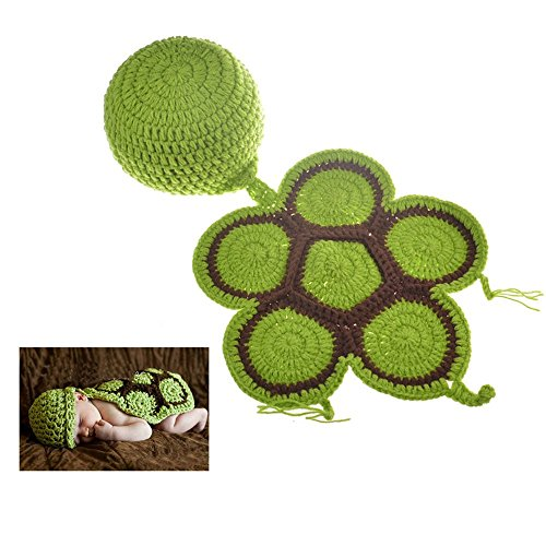 Fast-Flying NewBorn Baby Party Costume Kids Photography Crochet Knitted Prop Baby Clothes Hats and Tortoise (Tortoise Costumes)