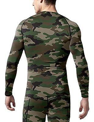 TSLA Men's Long Sleeve T-Shirt Baselayer Cool Dry Compression Top