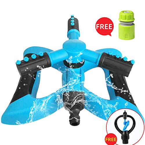 MIAOMIAO Blue Lawn Sprinkler,360° Rotating Yard and Garden Water Lawn Sprinkler with a Large Area of Coverage Adjustable,Suit for Kids Play in Outdoor.