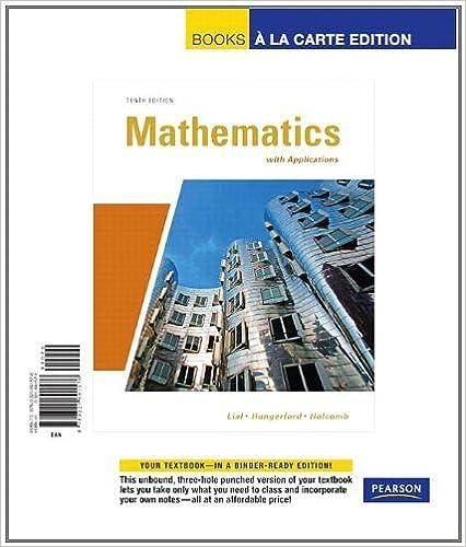 Amazon.com: Mathematics with Applications, Books a la Carte ...