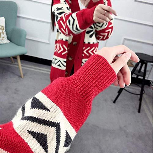 Automne Tricot Pullover en Jumper Warm Manteau Mod Femme Impression Tricot tqa5wnv