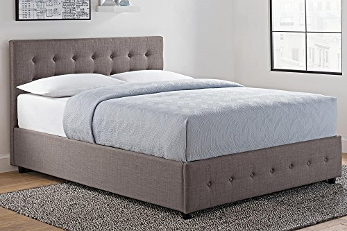 Dhp Cambridge Upholstered Linen Platform Bed With Wooden