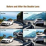 AUTO-VOX-M2-1080P-HD-Dual-lens-Rearview-Mirror-Dash-Cam-with-Car-Recorder-and-Reverse-Parking-System-Car-Rear-View-Backup-Camera-and-32GB-Micro-SD-Included