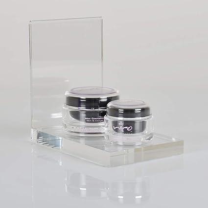 Luminati Clear acrylic counter top display plinth product glorifier unit 130mm Wide product riser plinth