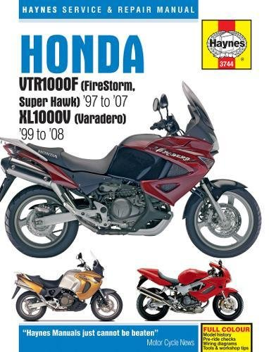 Honda VTR1000F (Firestorm, Superhawk) (97 - 08) & Xl1000V (Varadero) (99 - 08): 1997 to 2008 (Haynes Service & Repair Manual) por Haynes Publishing