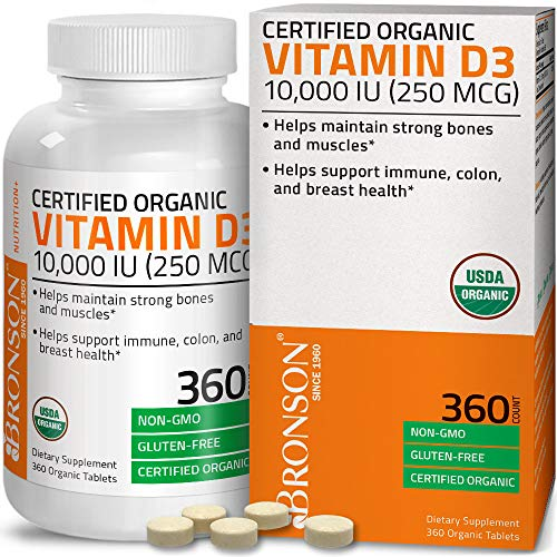 Bronson Vitamin D3 10,000 IU (250 mcg) 1 Year Supply for Immune Support, Healthy Muscle Function & Bone Health, High…