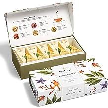 Tea Forté HERBAL RETREAT Petite Presentation Box Tea Sampler, Assorted Variety Tea Box, 10 Handcrafted Pyramid Tea Infusers - Relaxing Herbal Tea
