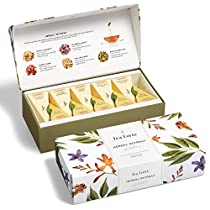 Tea Forté HERBAL RETREAT Petite Presentation Box with 10 Handcrafted Pyramid Tea Infusers - Relaxing Herbal Tea