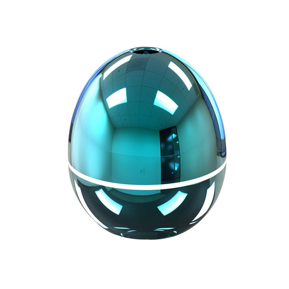 USB Air Humidifier Purifier Aroma Atomizer Essential Oil Diffuser Mist Maker Ultrasonic Cool Nebulizing Egg Shape Portable Mini Led Light Health Car Bedroom Office Nano Sprayer ( Blue, 50ml)
