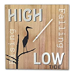 OldBleu Tide Clock - Blue Heron - Coastal Gift Nautical (B&W)