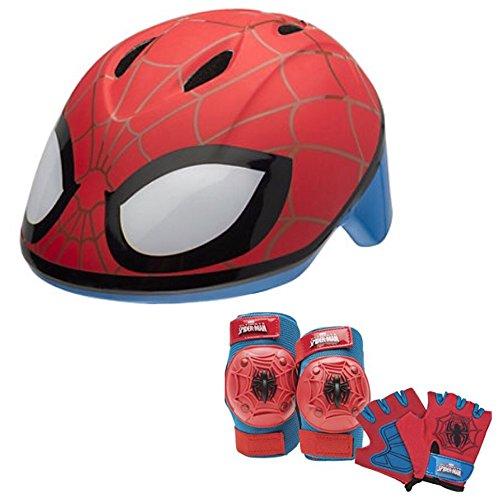 (Marvel Spiderman Toddler Skate / Bike Helmet Pads & Gloves - 7 Piece Set)