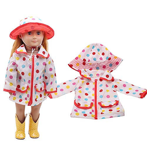 Theshy Hat Raincoat Clothes Suit for 18 Inch