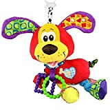 Brand Bed stroller Hanging 37cm Dog Plush vibration Toy Rattle Teether newborn baby Gift Multifunction Educational by Mama Store