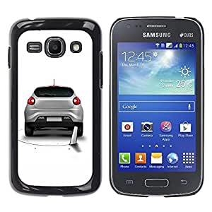 YiPhone /// Prima de resorte delgada de la cubierta del caso de Shell Armor - Cool Funny Saw Car Prank Hole - Samsung Galaxy Ace 3 GT-S7270 GT-S7275 GT-S7272